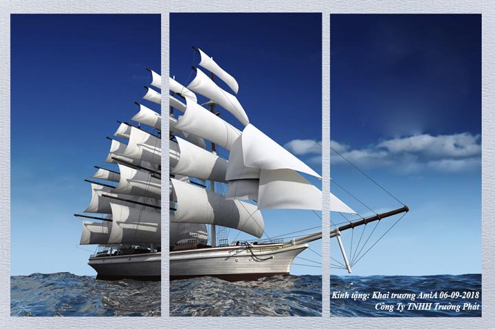 Tranh thuận buồm xuôi gió Amia 146 làm quà tặng tân gia khai trương ý nghĩa
