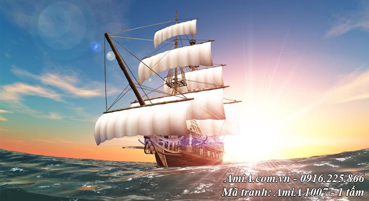 Tranh phong cảnh thuận buồm xuôi gió một tấm không khung AmiA 1007