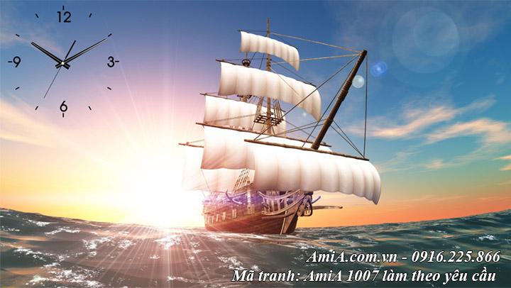 Hình ảnh tranh thuận buồm xuôi gió làm theo yêu cầu Amia 1007