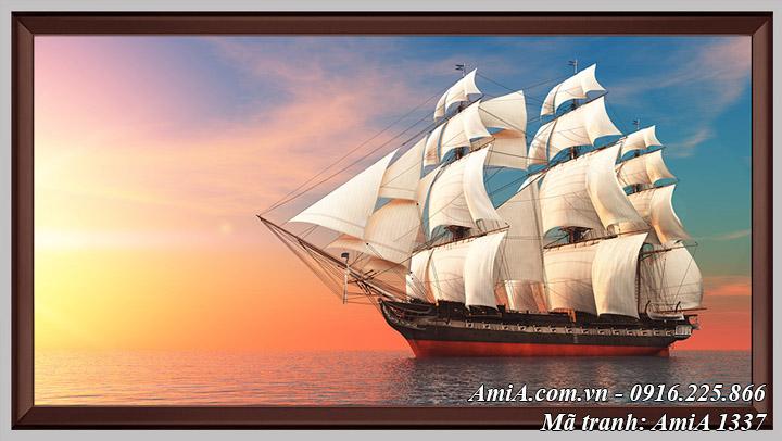 Hình ảnh tranh thuận buồm xuôi gió Amia 1337 dạng 1 tấm có khung khổ lớn