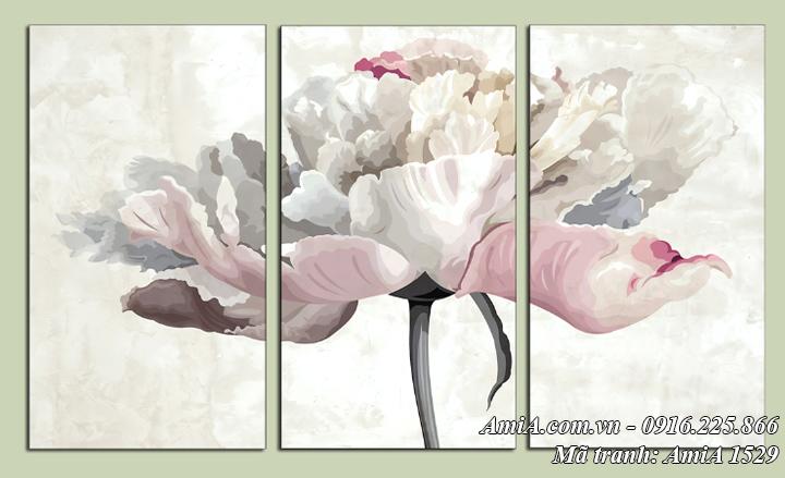 Hình ảnh tranh AmiA 1529 bông hoa giả sơn dầu nghệ thuật