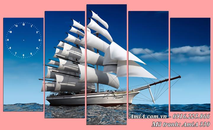 Hình ảnh tranh đồng hồ AmiA 330 mẫu thuận buồm xuôi gió 5 tấm được yêu thích nhất