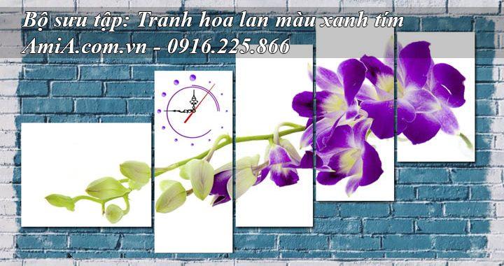 Hình ảnh đại diện các mẫu tranh hoa lan màu xanh tím p5