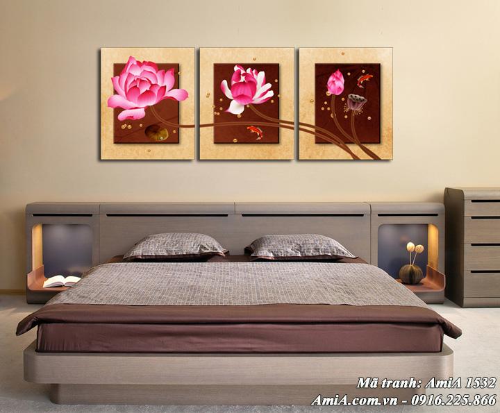 Tranh AmiA 1532 treo phòng ngủ thư thái sang trọng