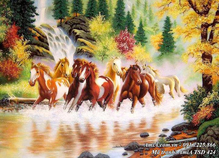 Hình ảnh tranh sơn dầu 424 tranh ngựa