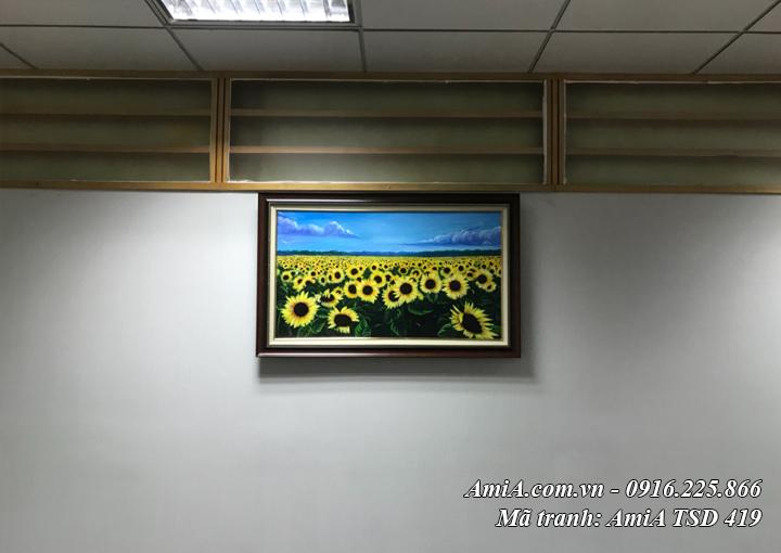 Hình ảnh tranh đồng hoa hướng dương TSD 419