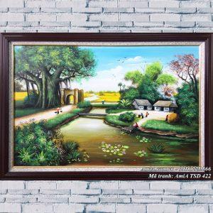 Hình ảnh tranh AmiA TSD 422 cảnh làng quê khổ nhỏ