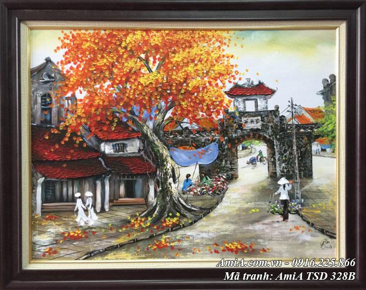 Hình ảnh tranh sơn dầu có màu ô quan chưởng mã TSD 328B