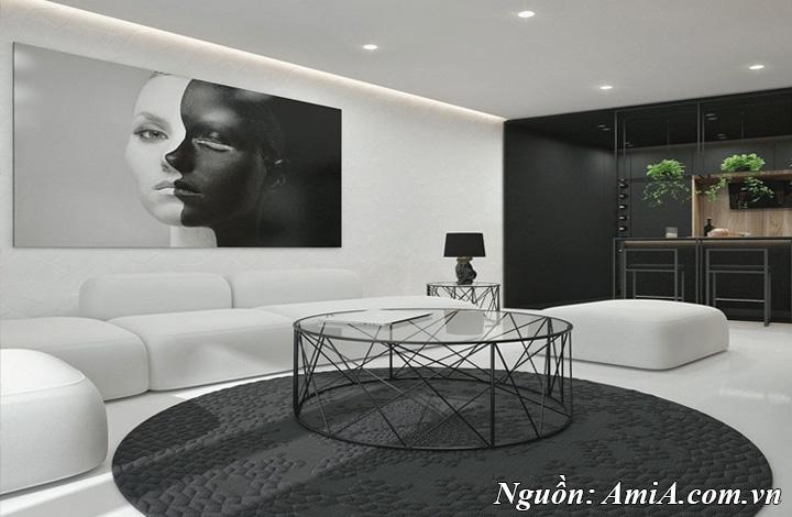 Phong cách trang trí thiết kế nội thất với tone màu đen trắng