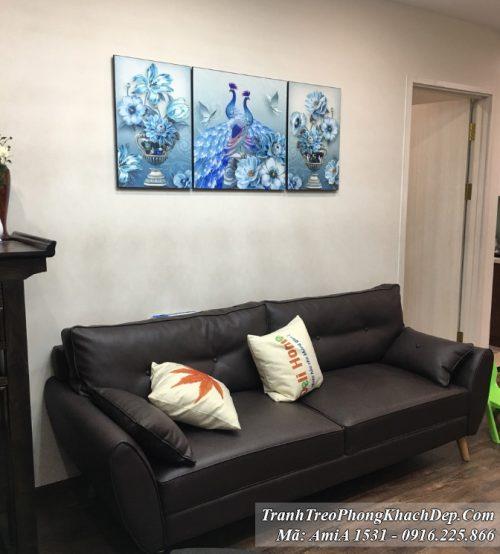 Tranh treo trên ghế sofa phòng khách chung cư AmiA 1531