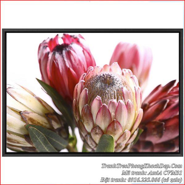 Tranh canvas búp hoa đẹp trang trí nhiều không gian phòng khách phòng ngủ