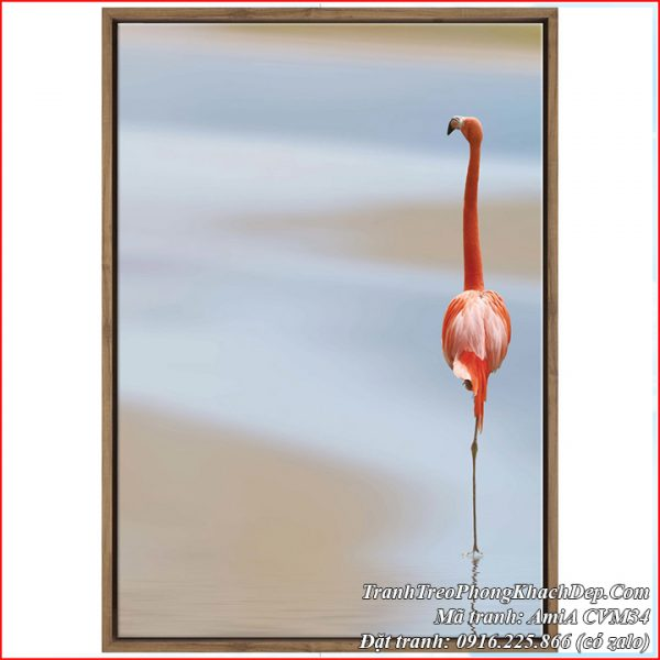 Hình ảnh tranh canvas AmiA CVM34 hồng hạc nghệ thuật