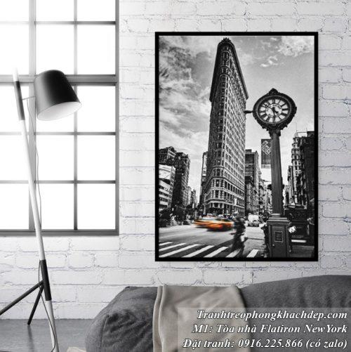 Tranh đen trắng thành phố NewYork