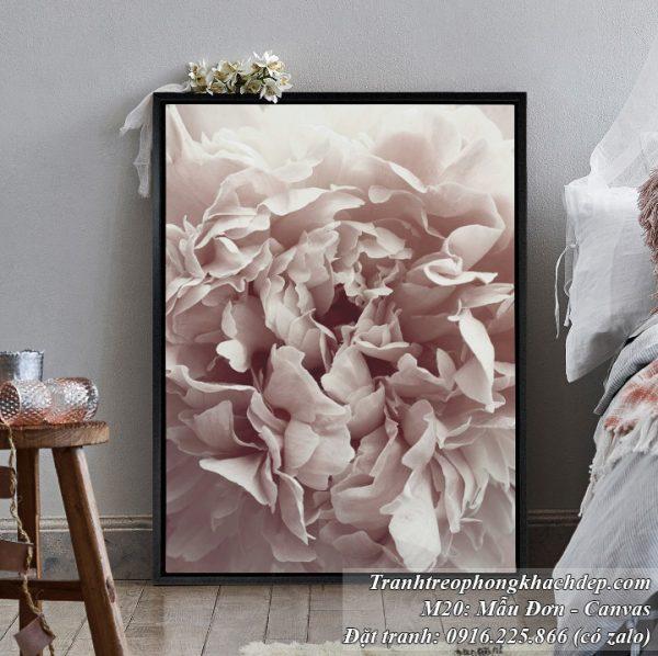 Tranh hoa mãu đơn nghệ thuật trang trí bắc âu