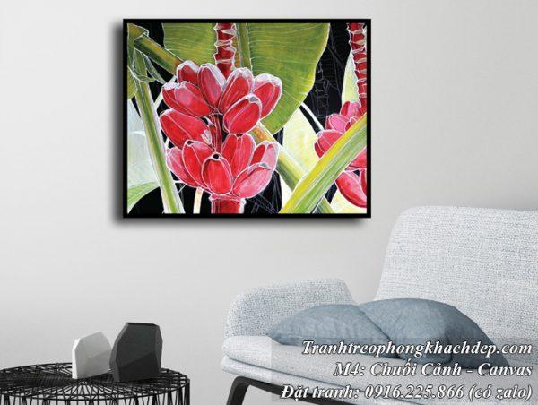 Tranh trang trí phòng khách buồng chuối nghệ thuật