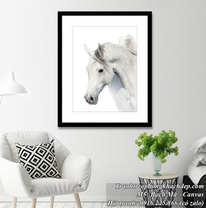 Tranh bạch mã ngựa trắng mang phong cách Bắc Âu