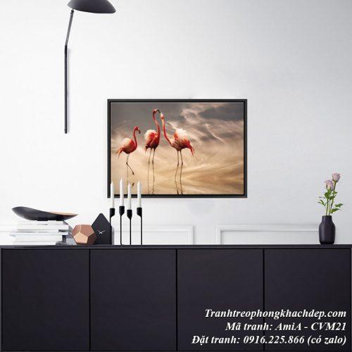 Hình ảnh tranh trang trí phòng khách hiện đại canvas AmiA CVM21