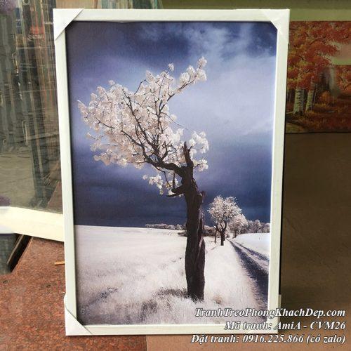 Tranh canvas thực tế mã Amia CVM26 tại cửa hàng tranh AmiA