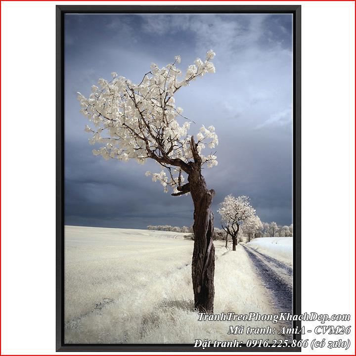 Tranh canvas AmiA CVM26 mùa đông tuyết trắng
