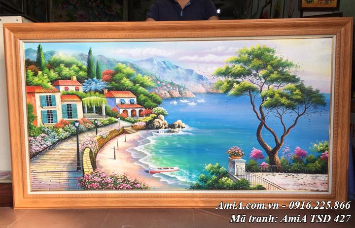 Bức tranh sơn dầu đẹp phong cảnh biển nổi tiếng của Thomas mã TSD 427