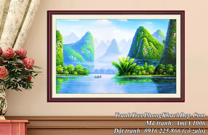 Tranh phong cảnh giả sơn dầu Việt Nam AmiA 1006