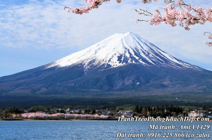 Tranh núi Phú Sỹ cao nhất nhật bản Amia 1429