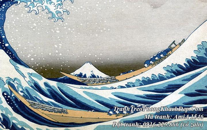 Tranh Nhật Bản nổi tiếng núi Phú Sỹ AmiA 1546