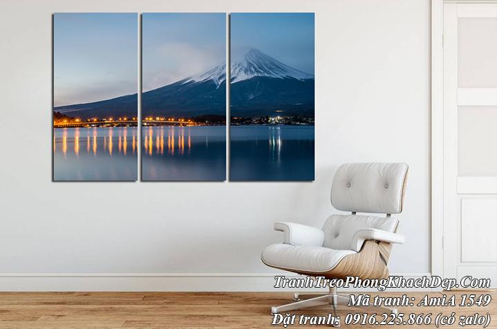 Hinh ảnh tranh AmiA 1549 núi Phú Sỹ Nhật Bản về đêm