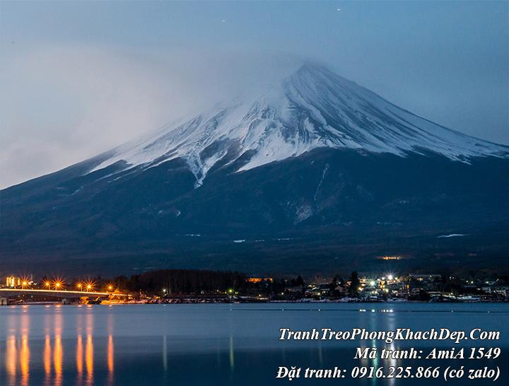 Tranh phong cảnh núi phú sỹ Nhật Bản nổi tiếng AmiA 1549