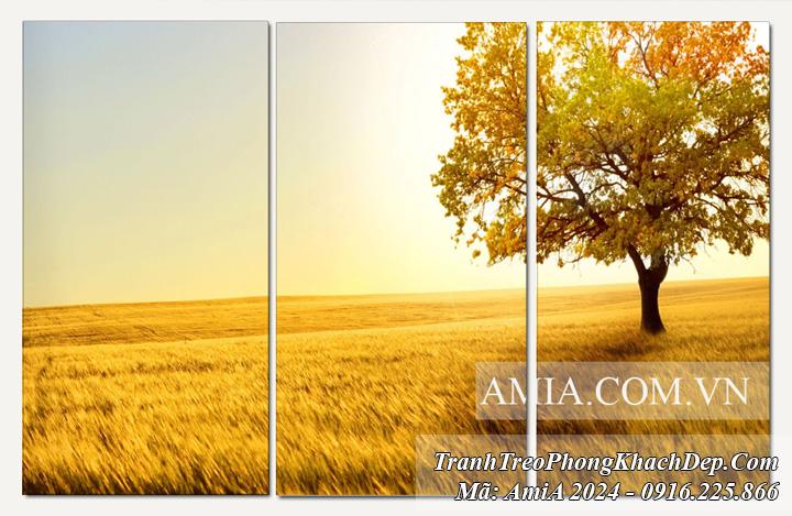 Tranh lá vàng mùa Thu Amia 2012