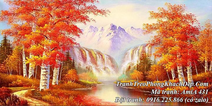 Tranh sông núi mùa Thu Trung Quốc đẹp và ý nghĩa AmiA 431