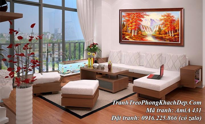 AmiA 431 bức tranh treo ở phòng khách phong cảnh mùa Thu AmiA 431