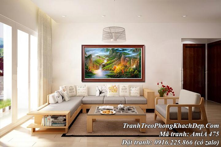 Tranh treo phòng khách đẹp sông núi Trung Quốc AmiA 475