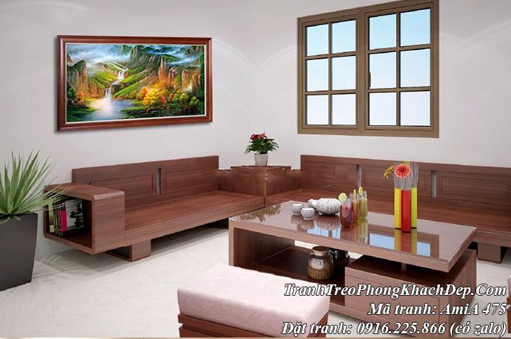 Tranh sông núi Amia 475 ở Trung Quốc trang trí phòng khách hiện đại