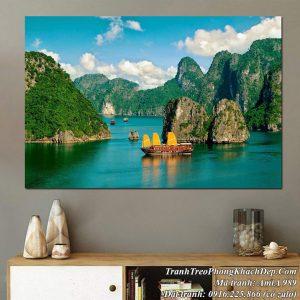 Tranh sông núi Vịnh Hạ Long một tấm khổ lớn AmiA 989