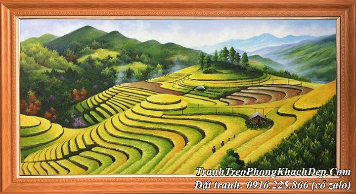 AmiA nhận vẽ tranh ruộng bậc thang sơn dầu theo yêu cầu tại Hà Nội