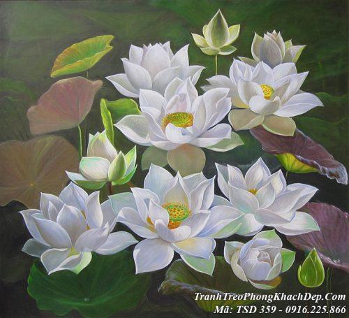 Tranh sơn dầu nghệ thuật vẽ bằng sơn dầu TSD 359