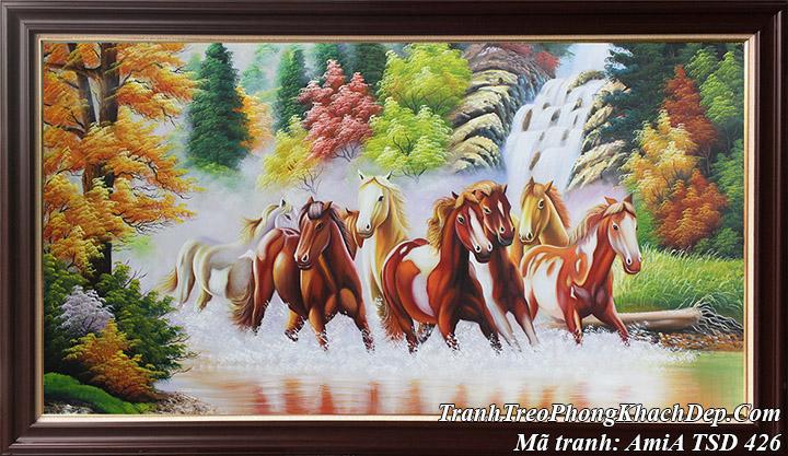 Tranh vẽ sơn dầu chạy trên sóng nước mã đáo thành công