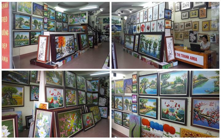 Địa chỉ cửa hàng bán tranh sơn dầu đẹp chất lượng ở Hà Nội
