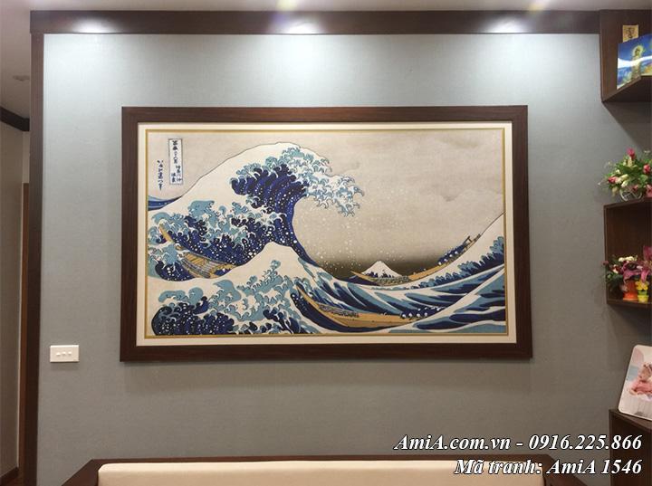 Tranh con sóng và núi Phú Sỹ AmiA 1546