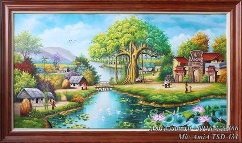 AmiA TSD 431 nông thôn Việt Nam vẽ sơn dầu