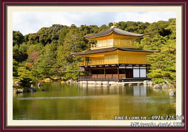 Tranh AmiA 1550 chùa Vàng Kinkakuji Nhật Bản