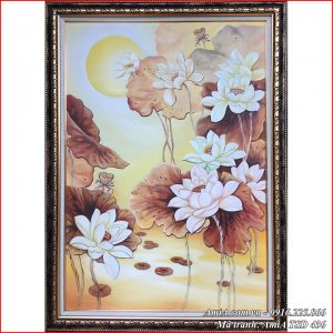 AmiA TSD 436 vẽ hoa sen khổ đứng bằng sơn dầu