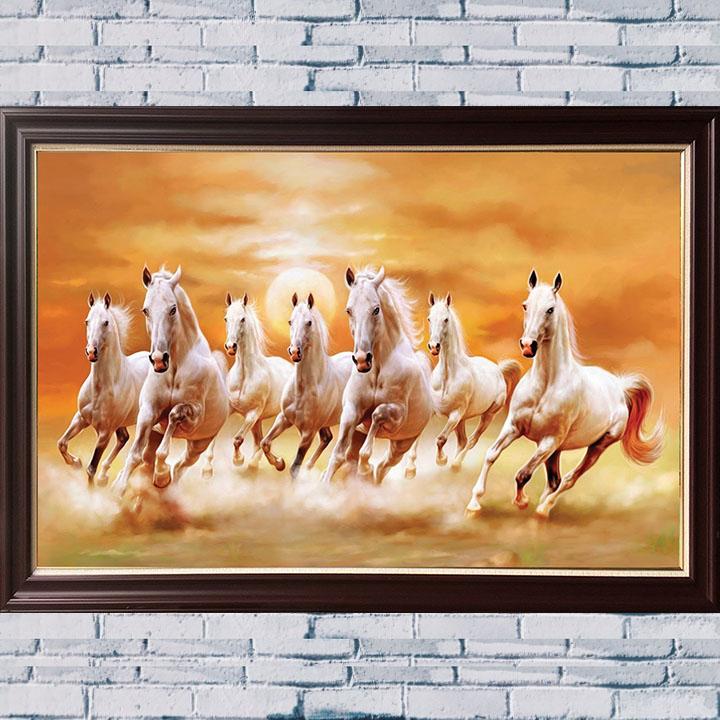 AmiA nhận vẽ tranh bạch mã 8 con bằng sơn dầu theo yêu cầu