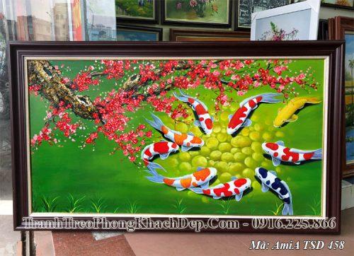 Tranh sơn dầu cá chép AmiA 458