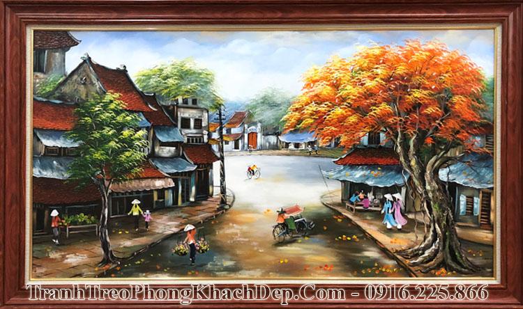 Tranh vẽ phố cổ sơn dầu Amia TSD 439