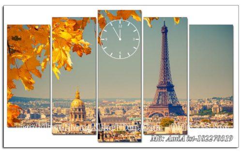 Tranh ghép 5 tấm mùa Thu ở Paris mã AmiA 182270319