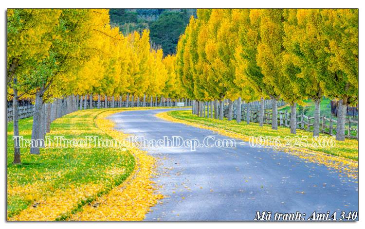 Tranh phong cảnh đẹp mùa Thu AmiA 340