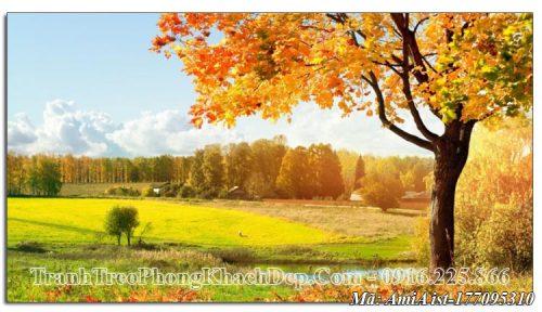 Tranh AmiA ist 177095310 cây mùa Thu lá đỏ