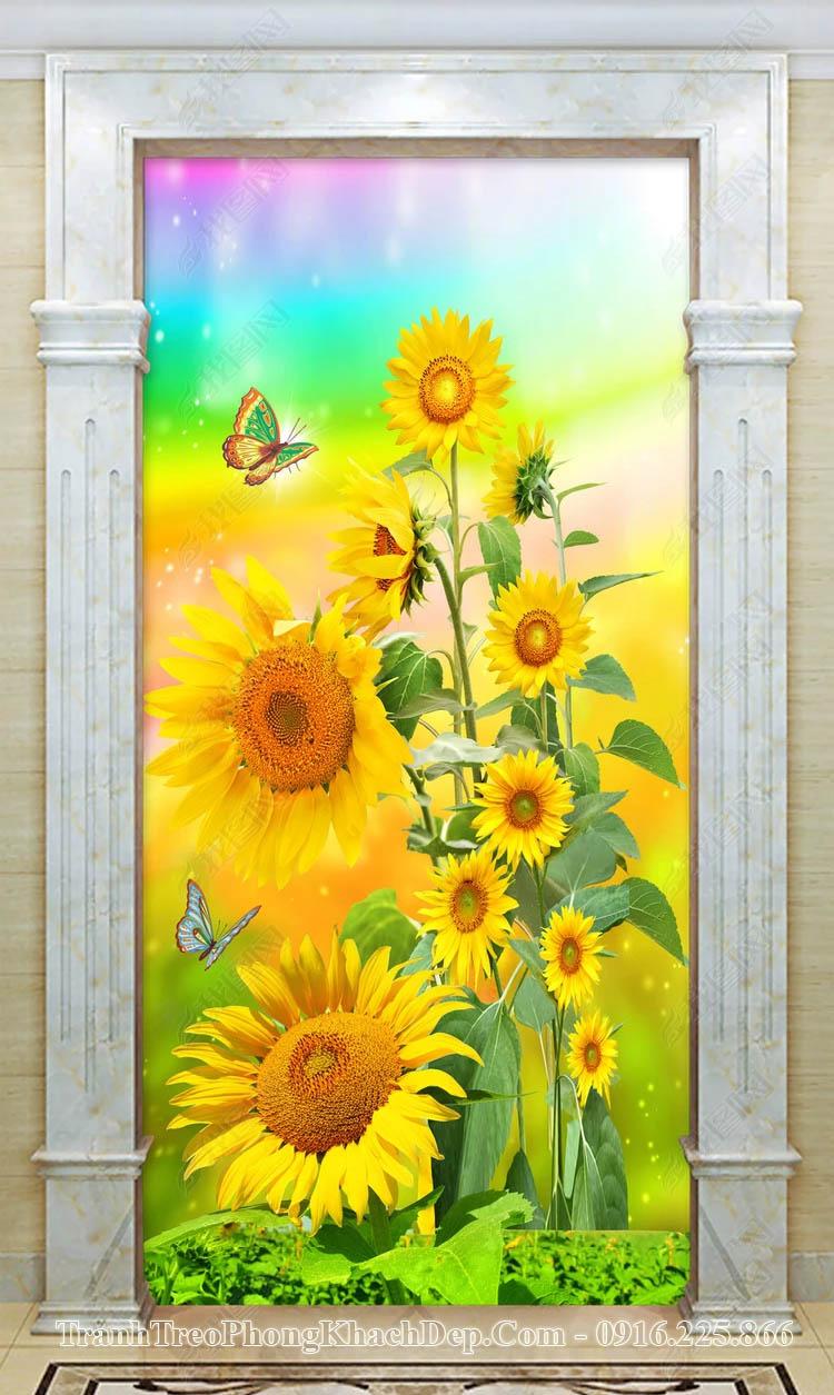 Tranh AmiA op16398545 hoa hướng dương khổ đứng